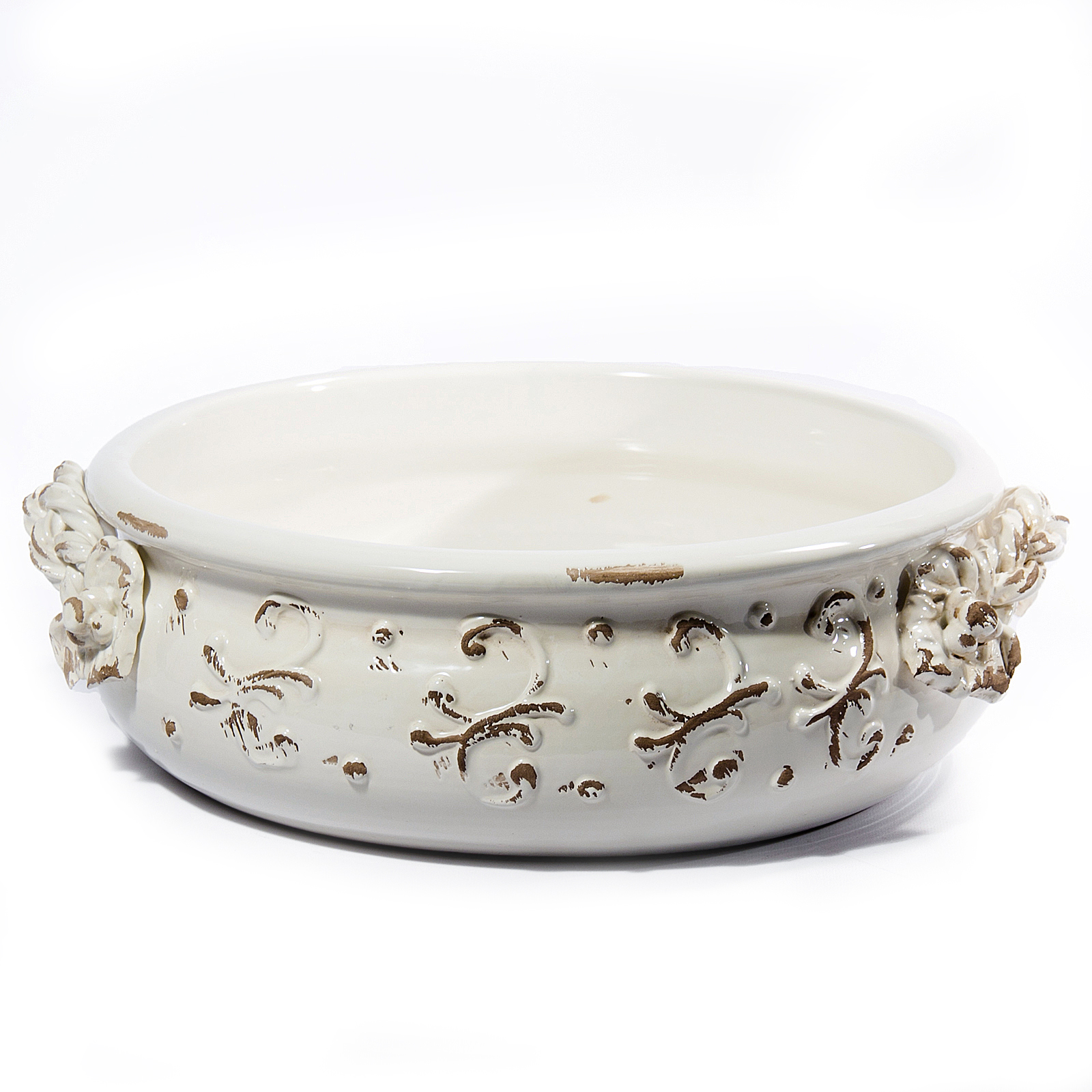 Terrazza Bowl Antique White