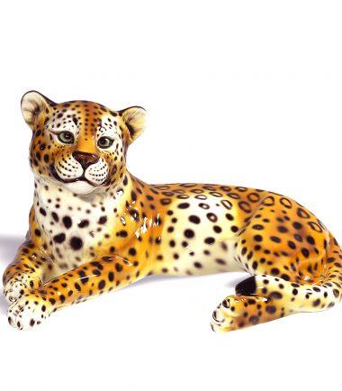 Ceramic Cheetah Figurine