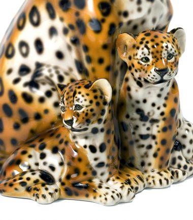 Italian Tiger, Cheetah & Leopard Figurine   Handmade Italian Ceramics