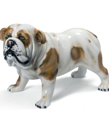 Porcelain Italian Large Ceramic Dogs Statues   Handmade Ceramic Artists