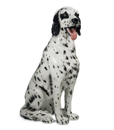 Porcelain Italian Large Ceramic Dogs Statues | Handmade Ceramic Artists