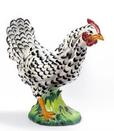Antique Italian Ceramic Roosters Figurine | Handmade Italian Ceramics