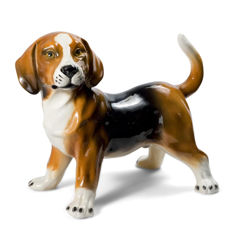 Porcelain Dog Statue