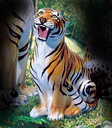 Italian Tiger, Cheetah & Leopard Figurine | Handmade Italian Ceramics